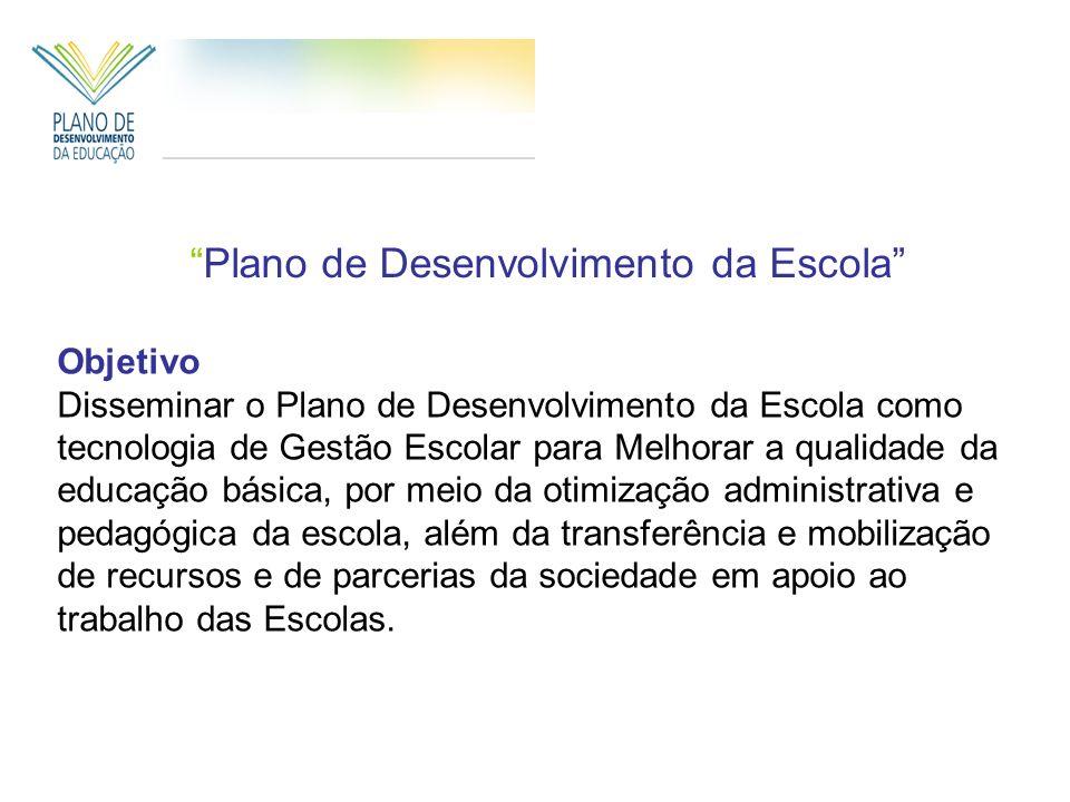 Plano de Desenvolvimento da Escola