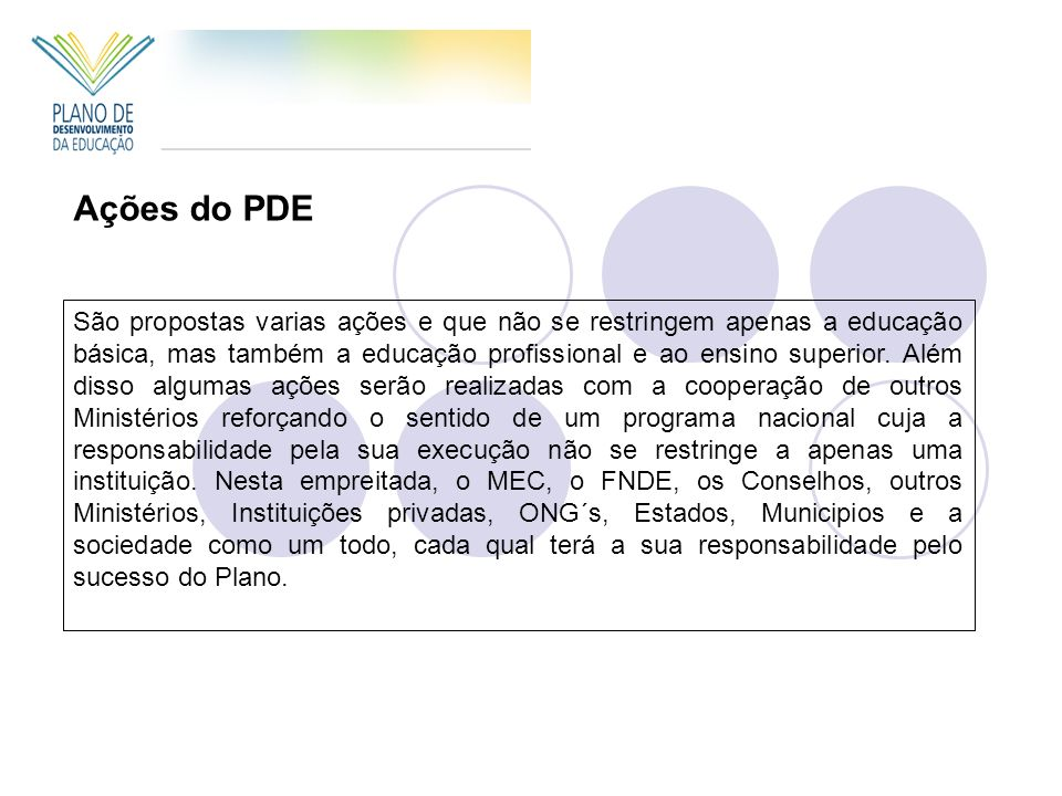 Ações do PDE