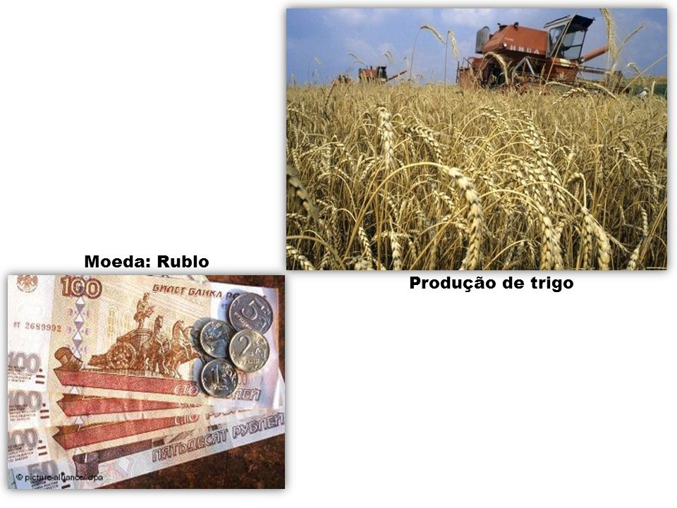 Moeda: Rublo Produção de trigo