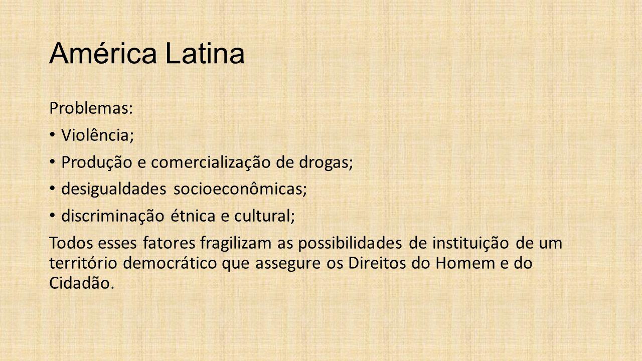 América Latina Problemas: Violência;
