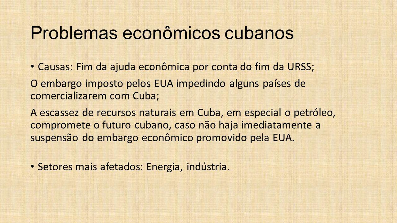 Problemas econômicos cubanos