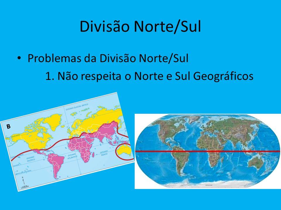 Divisão Norte/Sul Problemas da Divisão Norte/Sul