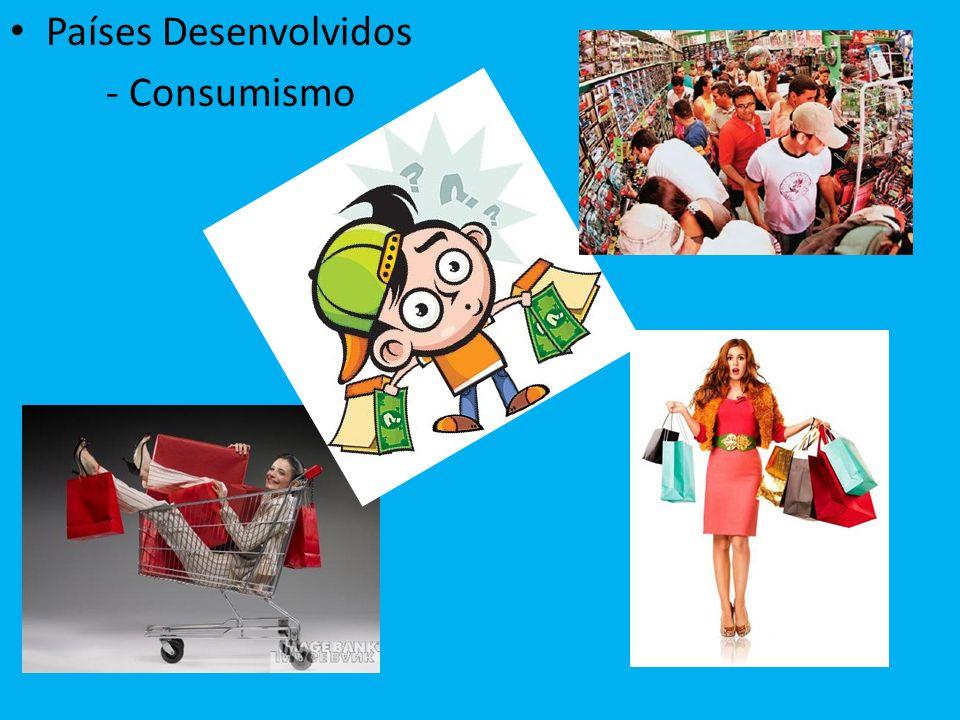Países Desenvolvidos - Consumismo