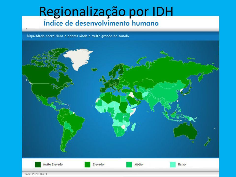 Regionalização por IDH