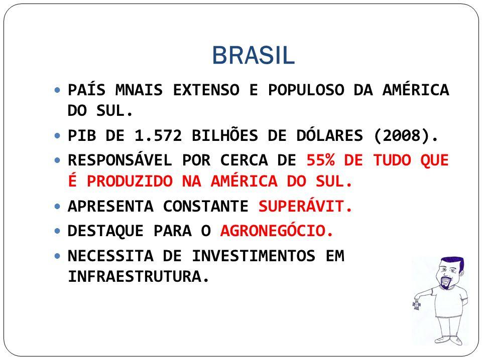 BRASIL PAÍS MNAIS EXTENSO E POPULOSO DA AMÉRICA DO SUL.