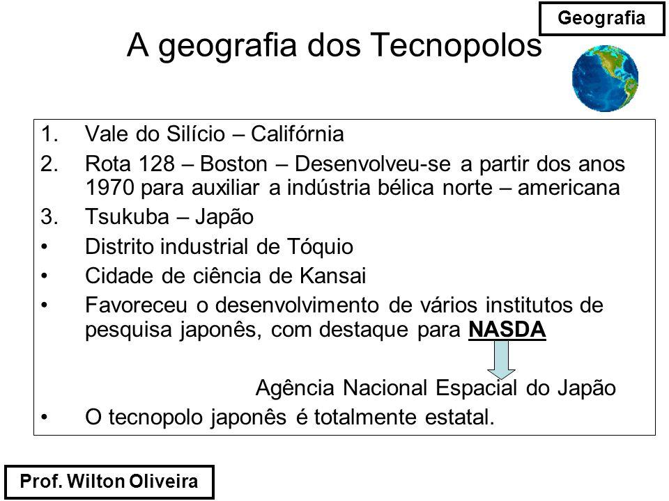 A geografia dos Tecnopolos