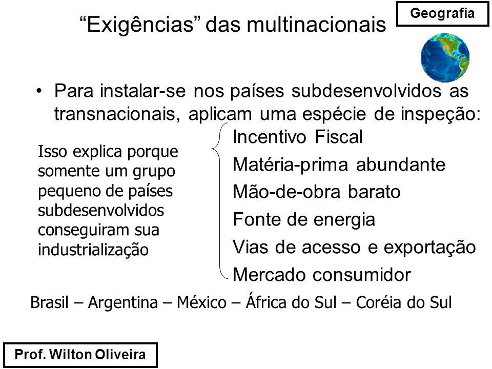 Exigências das multinacionais