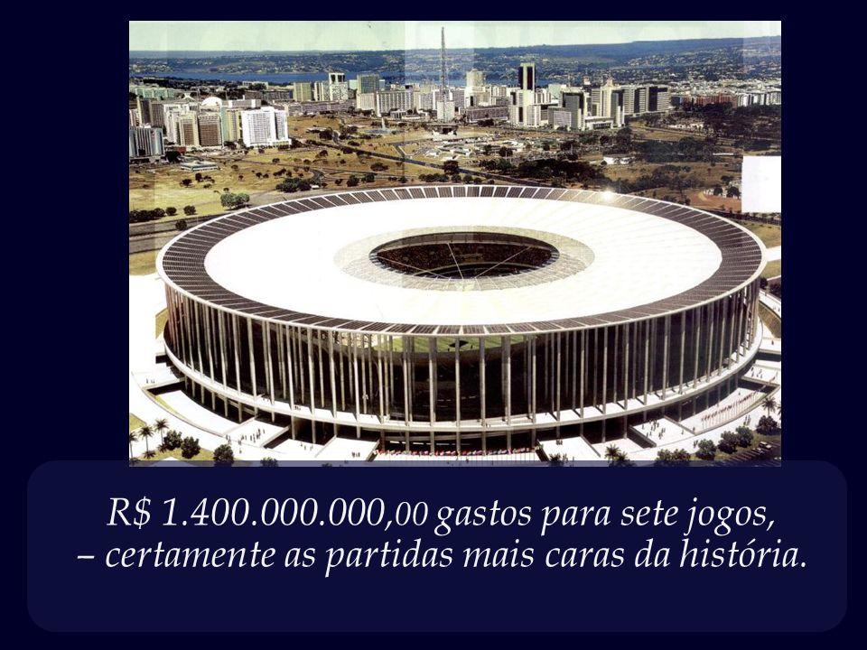 R$ 1.400.000.000,00 gastos para sete jogos,