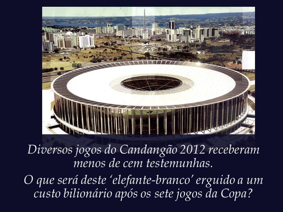 Diversos jogos do Candangão 2012 receberam menos de cem testemunhas.