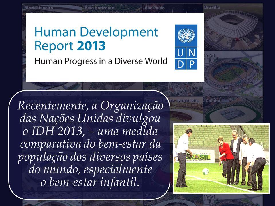 Recentemente, a Organização das Nações Unidas divulgou