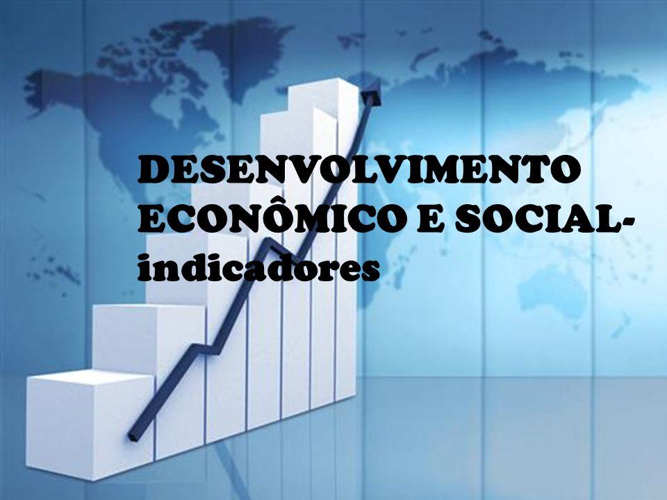 DESENVOLVIMENTO ECONÔMICO E SOCIAL-indicadores