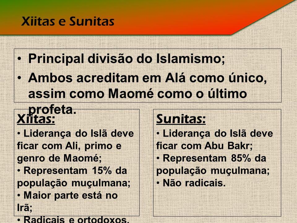 Principal divisão do Islamismo;