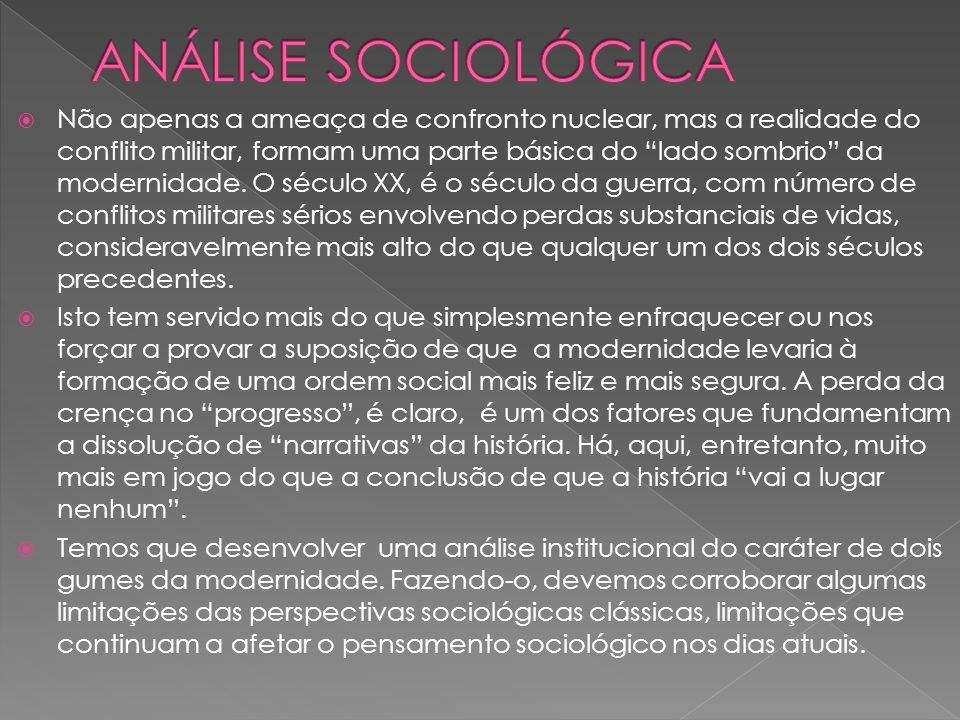ANÁLISE SOCIOLÓGICA
