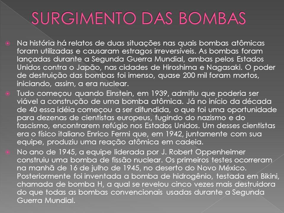 SURGIMENTO DAS BOMBAS