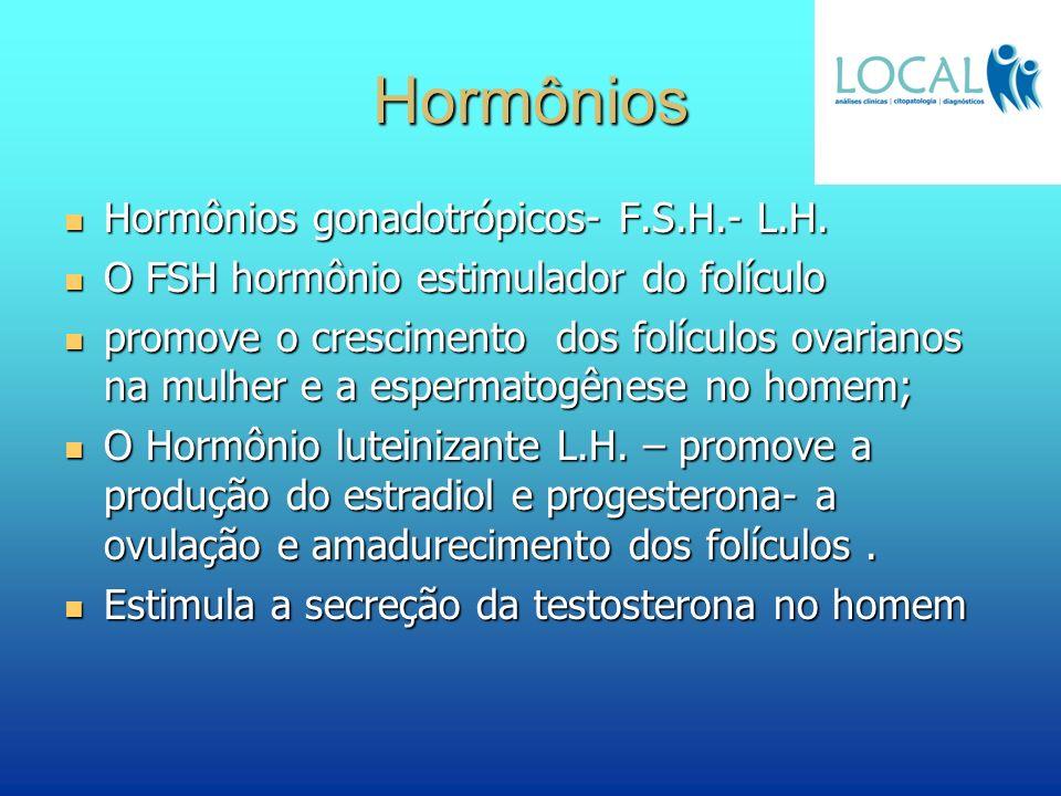 Hormônios Hormônios gonadotrópicos- F.S.H.- L.H.
