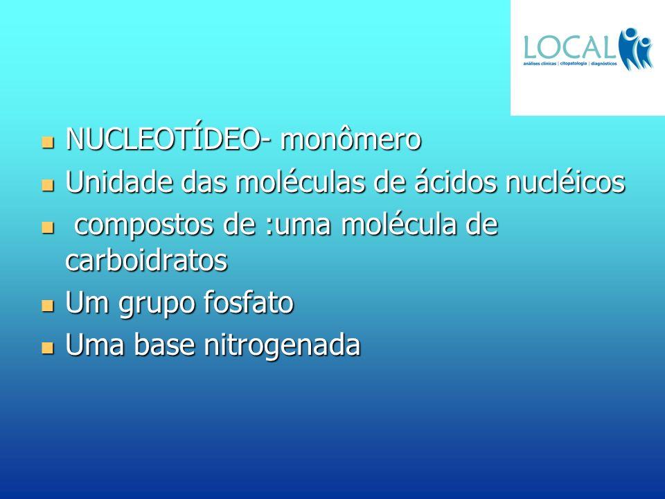 NUCLEOTÍDEO- monômero
