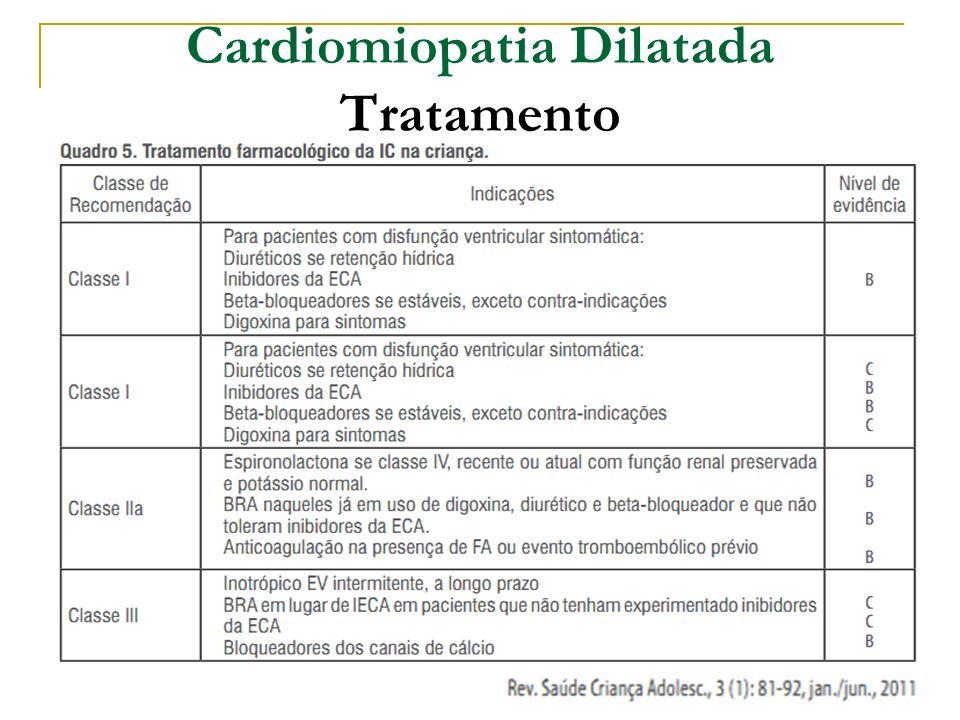 Cardiomiopatia Dilatada Tratamento