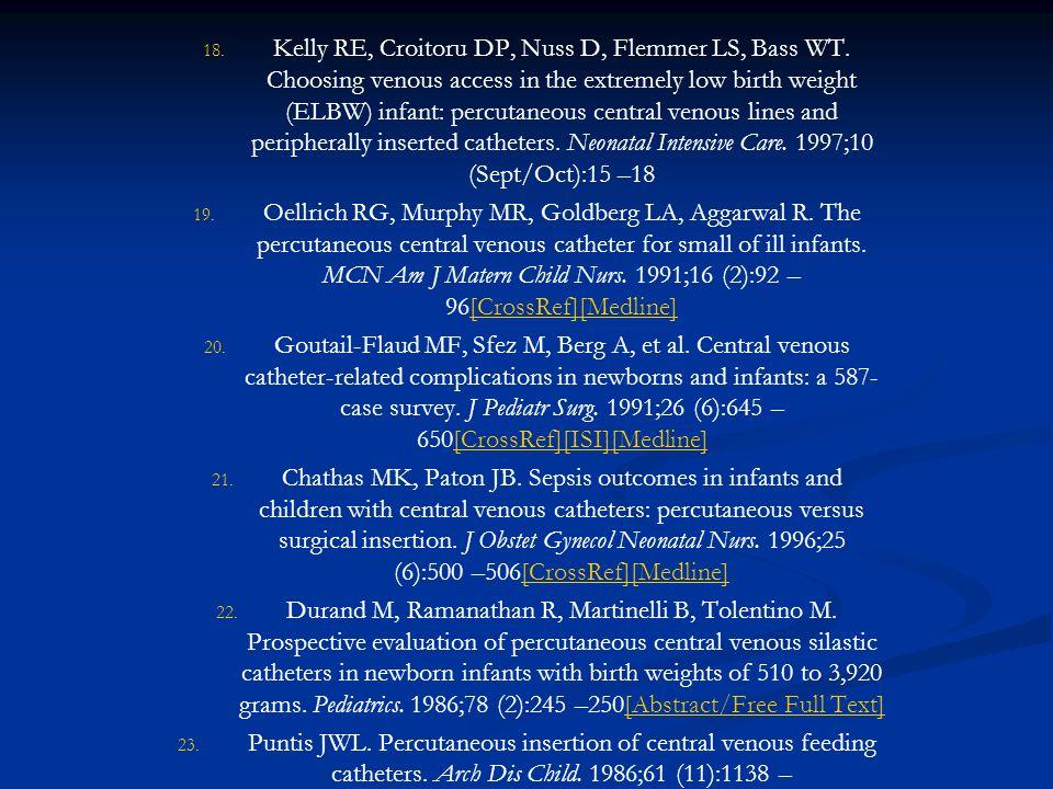 Kelly RE, Croitoru DP, Nuss D, Flemmer LS, Bass WT