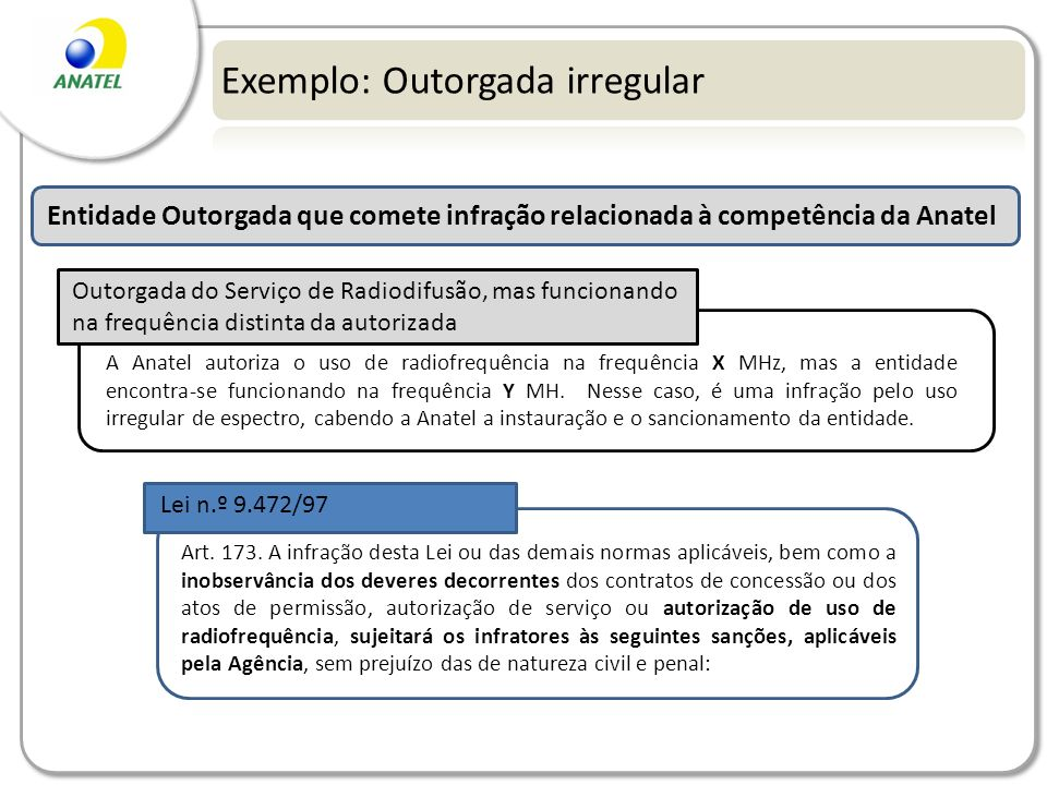 Exemplo: Outorgada irregular