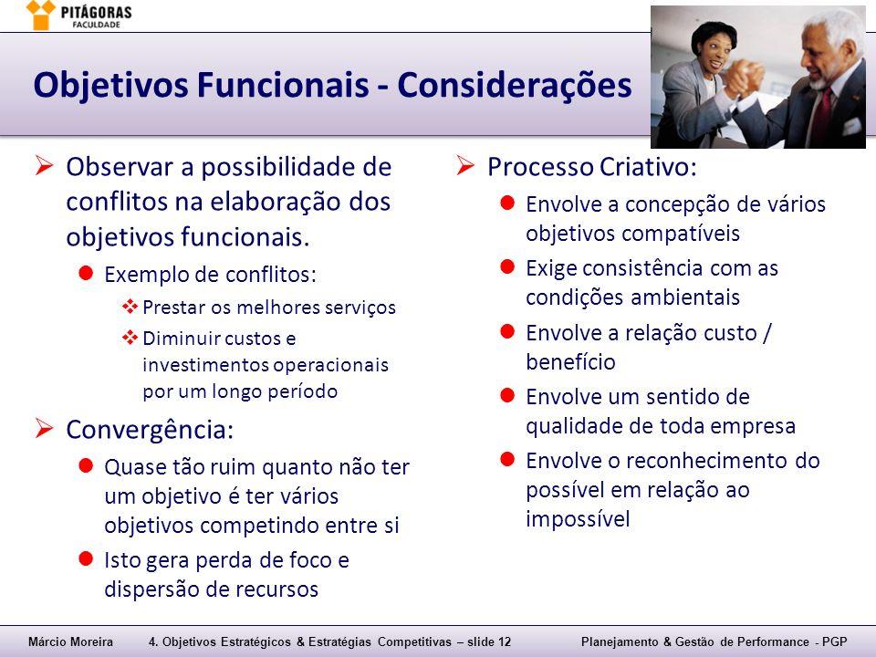Objetivos Funcionais - Considerações