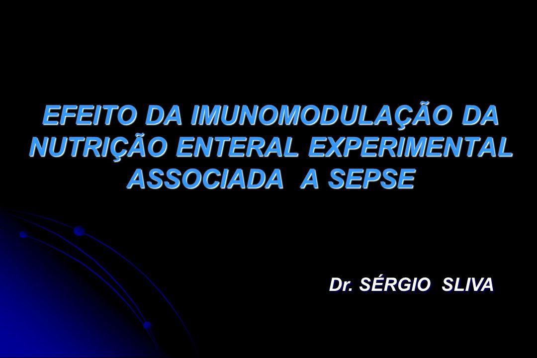 EFEITO DA IMUNOMODULAÇÃO DA NUTRIÇÃO ENTERAL EXPERIMENTAL ASSOCIADA A SEPSE