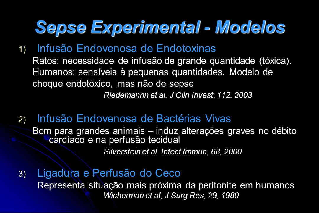 Sepse Experimental - Modelos