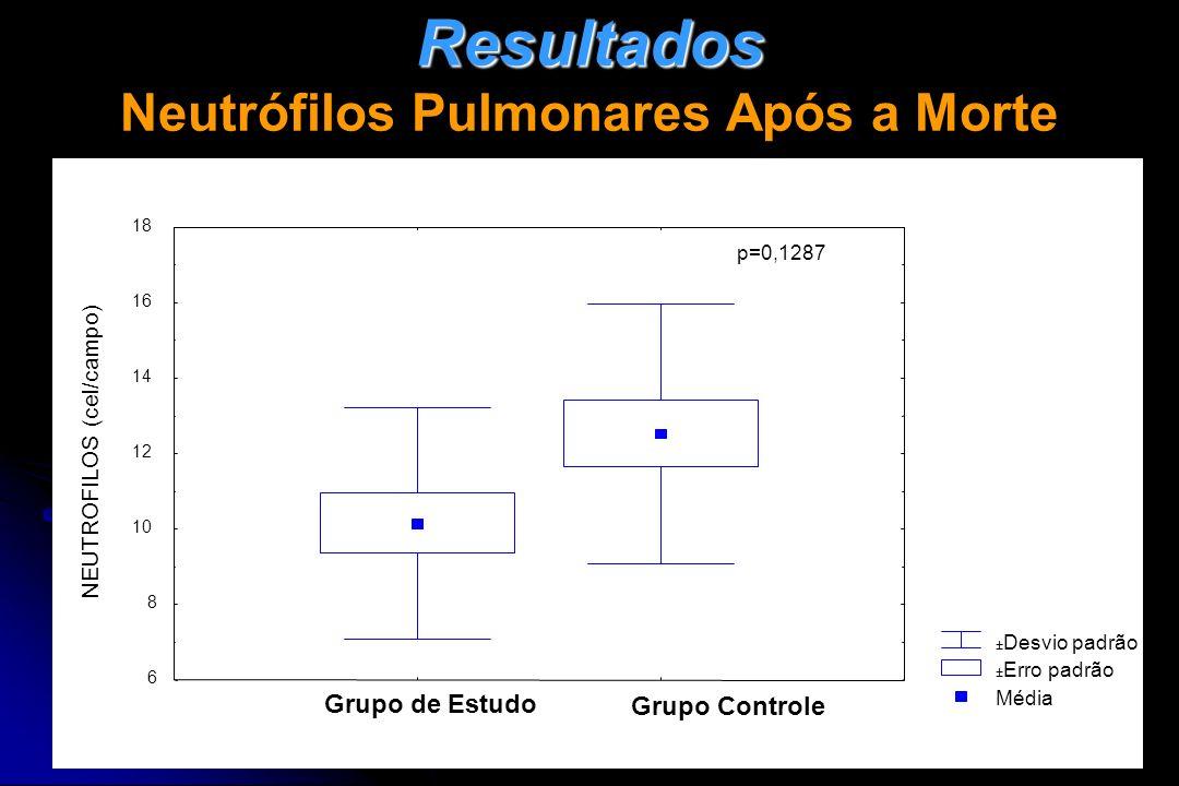 Resultados Neutrófilos Pulmonares Após a Morte
