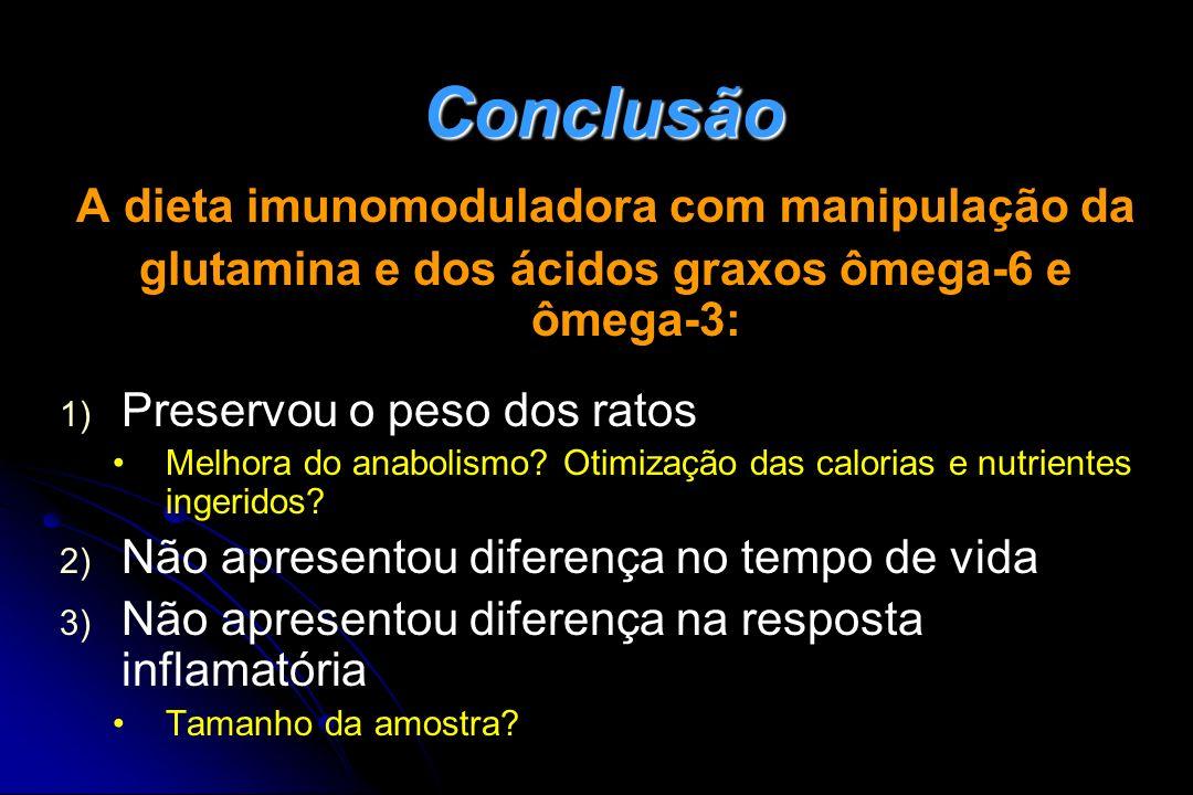 Conclusão A dieta imunomoduladora com manipulação da