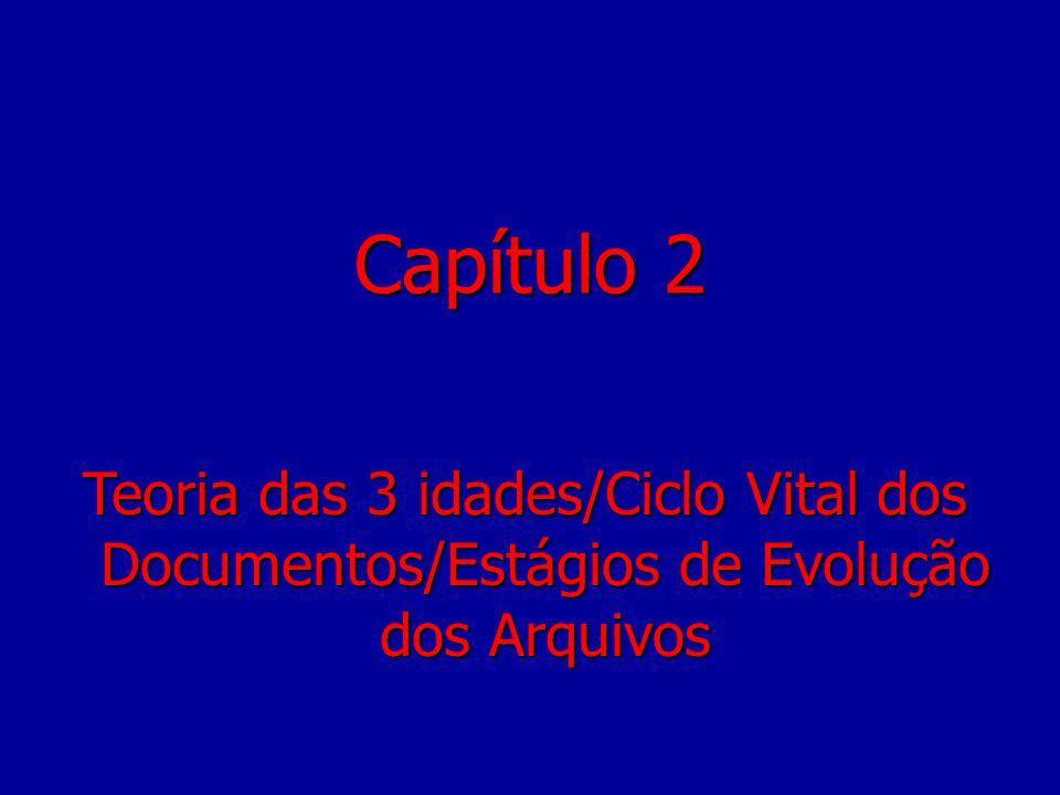 Capítulo 2 Teoria das 3 idades/Ciclo Vital dos Documentos/Estágios de Evolução dos Arquivos