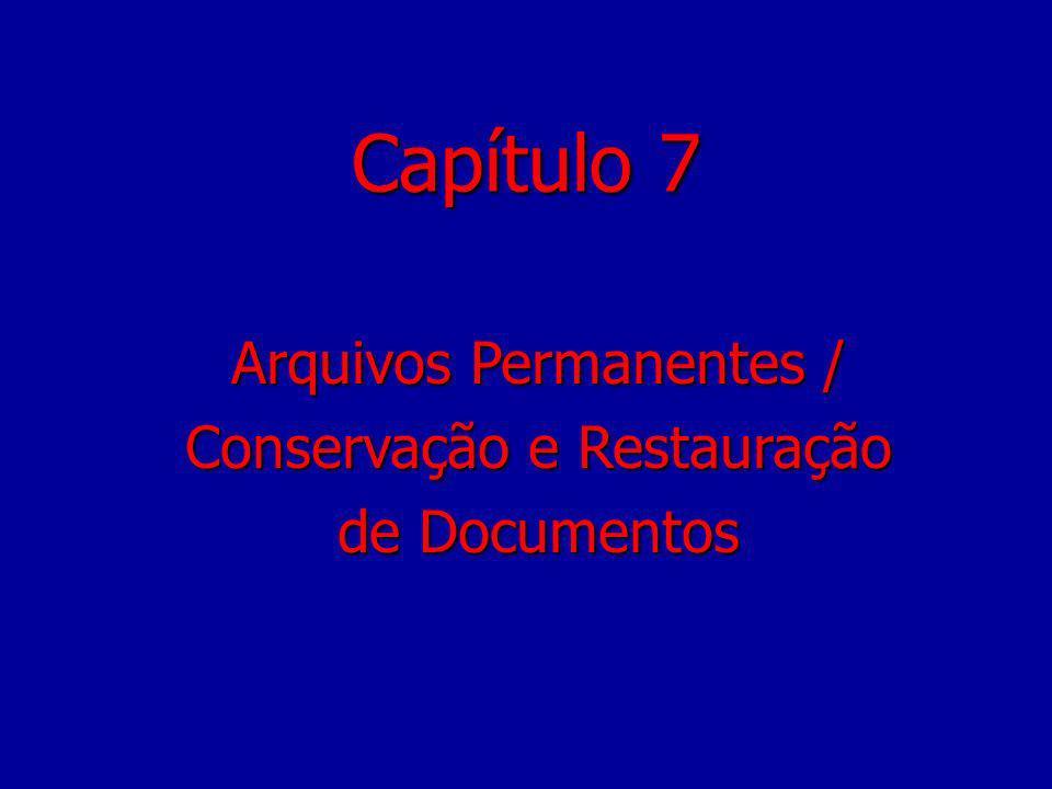 Capítulo 7 Arquivos Permanentes / Conservação e Restauração