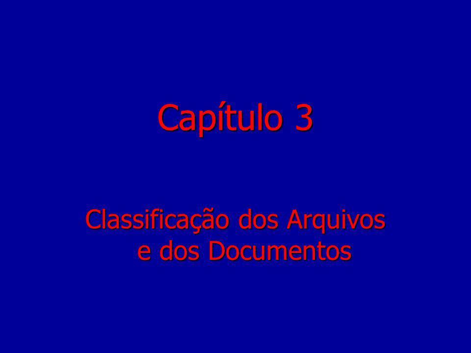Classificação dos Arquivos e dos Documentos