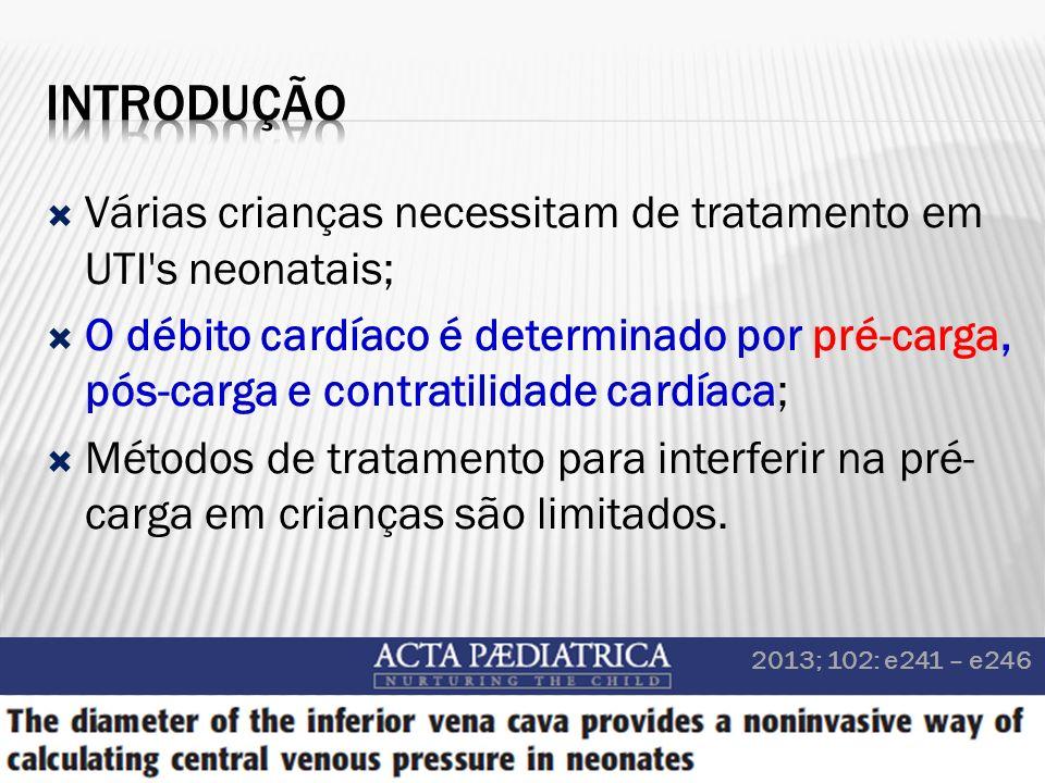 Introdução Várias crianças necessitam de tratamento em UTI s neonatais;