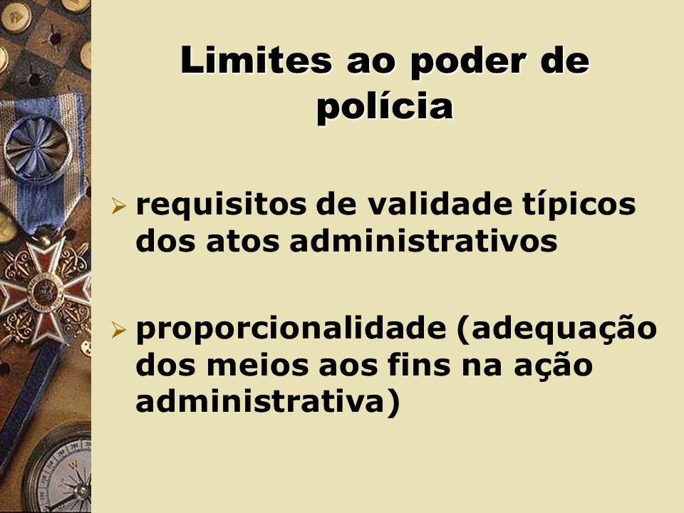 Limites ao poder de polícia