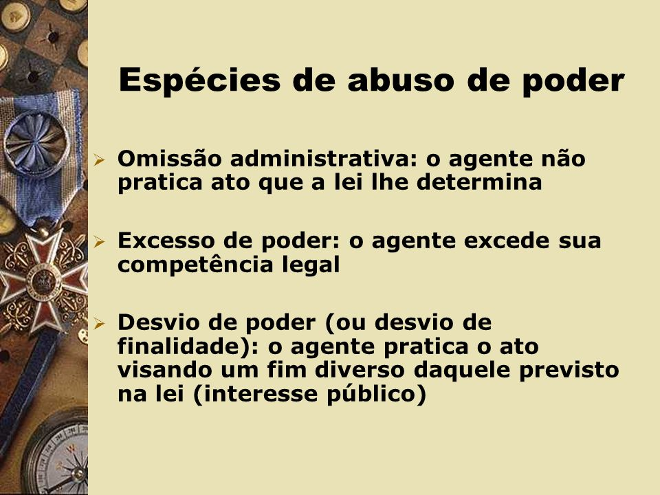 Espécies de abuso de poder