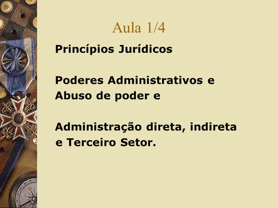Aula 1/4 Princípios Jurídicos Poderes Administrativos e