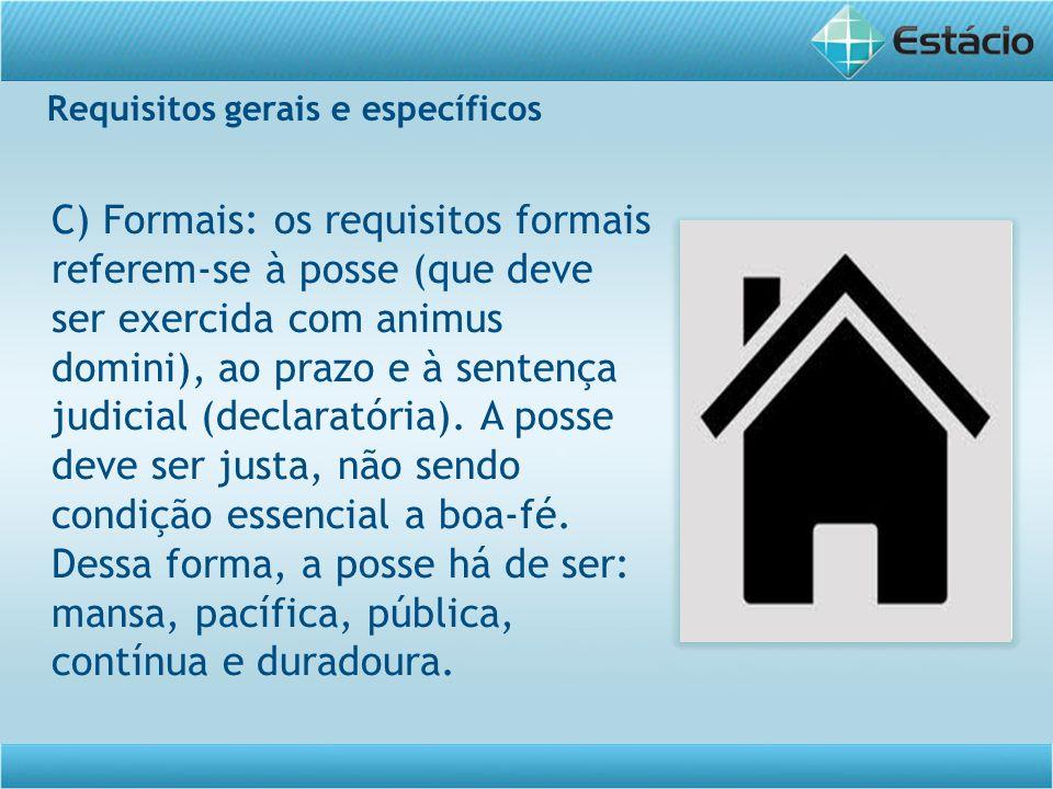Requisitos gerais e específicos
