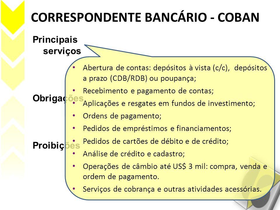 CORRESPONDENTE BANCÁRIO - COBAN