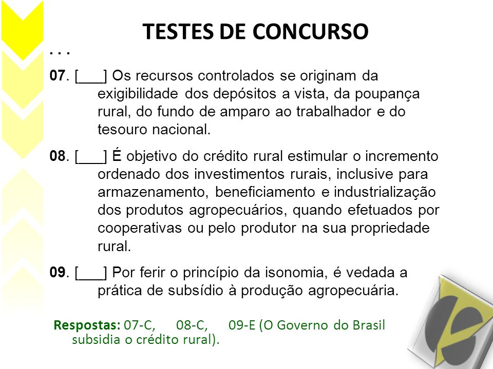 TESTES DE CONCURSO . . .