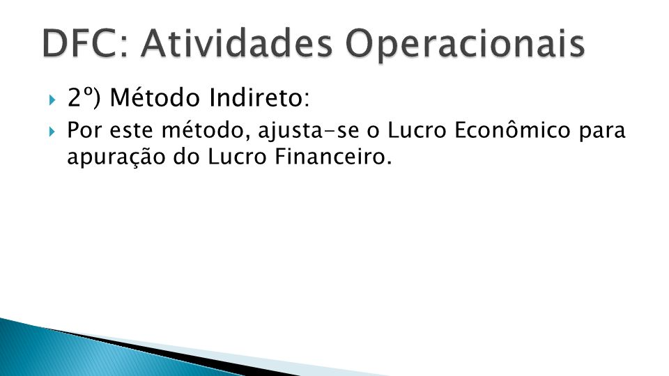 DFC: Atividades Operacionais