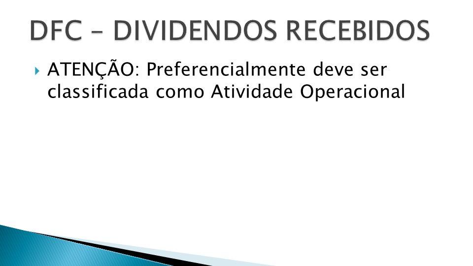 DFC – DIVIDENDOS RECEBIDOS