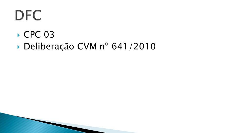 DFC CPC 03 Deliberação CVM nº 641/2010