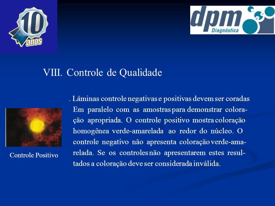 VIII. Controle de Qualidade
