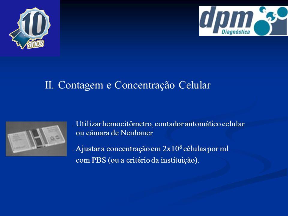 II. Contagem e Concentração Celular