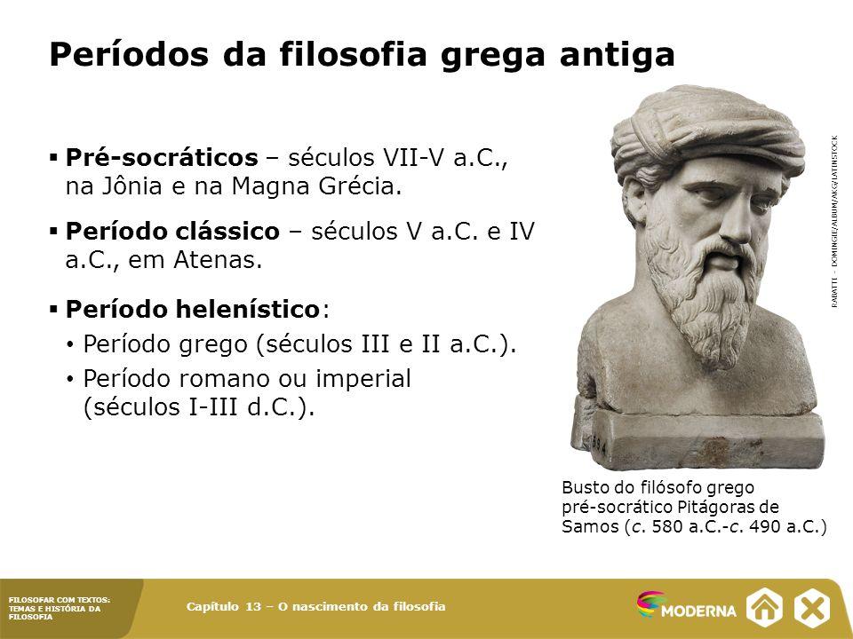 Períodos da filosofia grega antiga