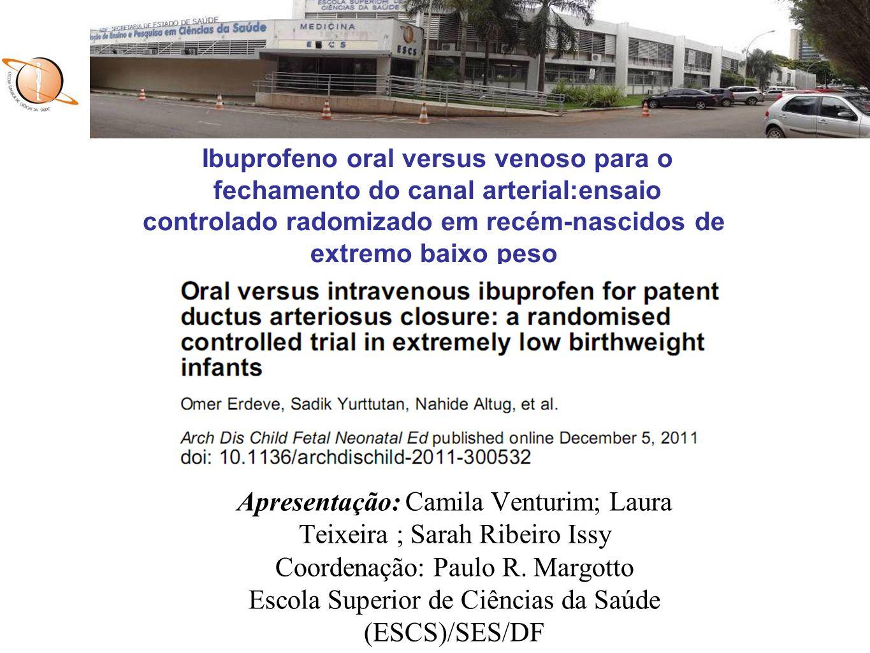 Apresentação: Camila Venturim; Laura Teixeira ; Sarah Ribeiro Issy