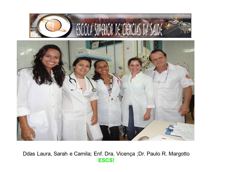 Ddas Laura, Sarah e Camila; Enf. Dra. Vicença ;Dr. Paulo R. Margotto