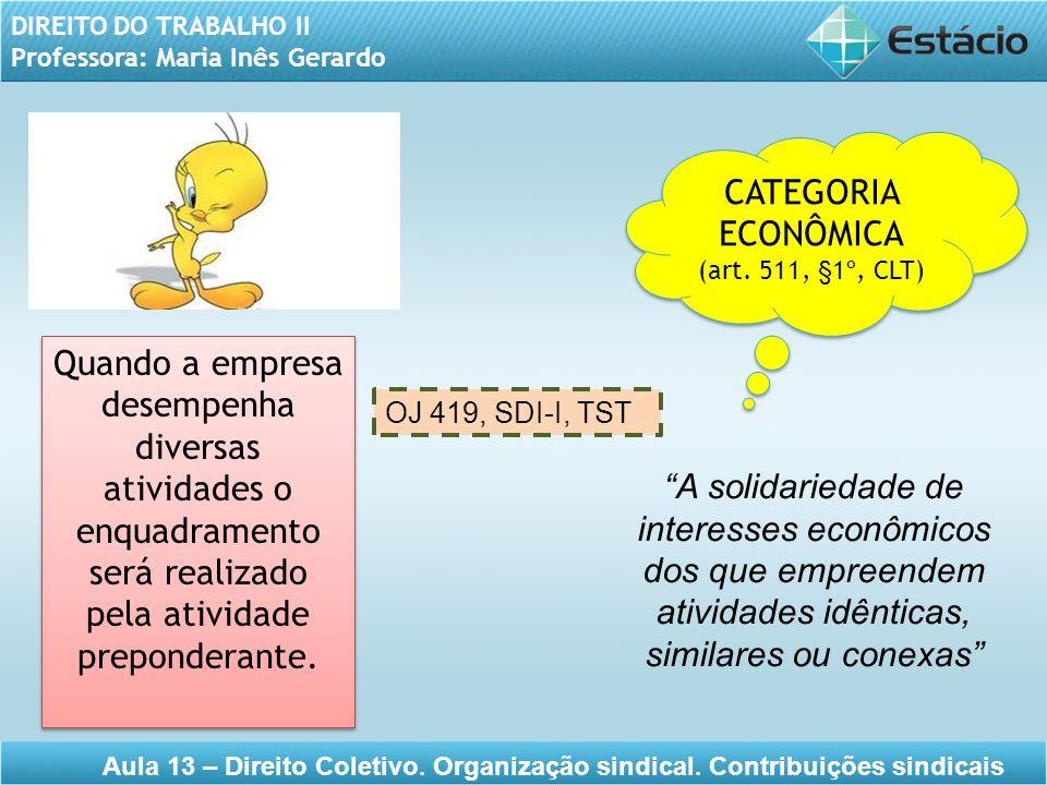 CATEGORIA ECONÔMICA. (art. 511, §1º, CLT)
