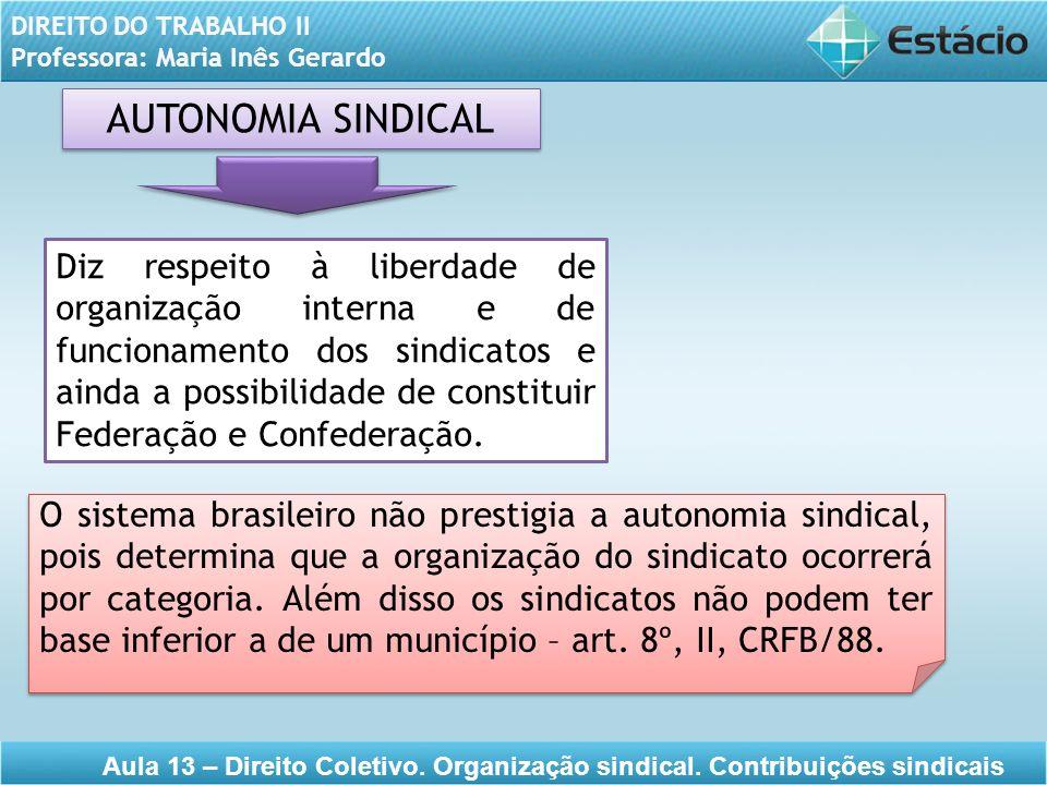 AUTONOMIA SINDICAL