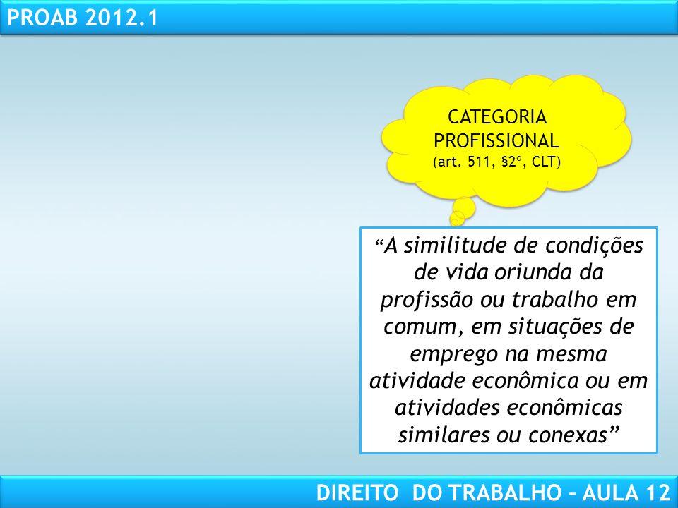 CATEGORIA PROFISSIONAL