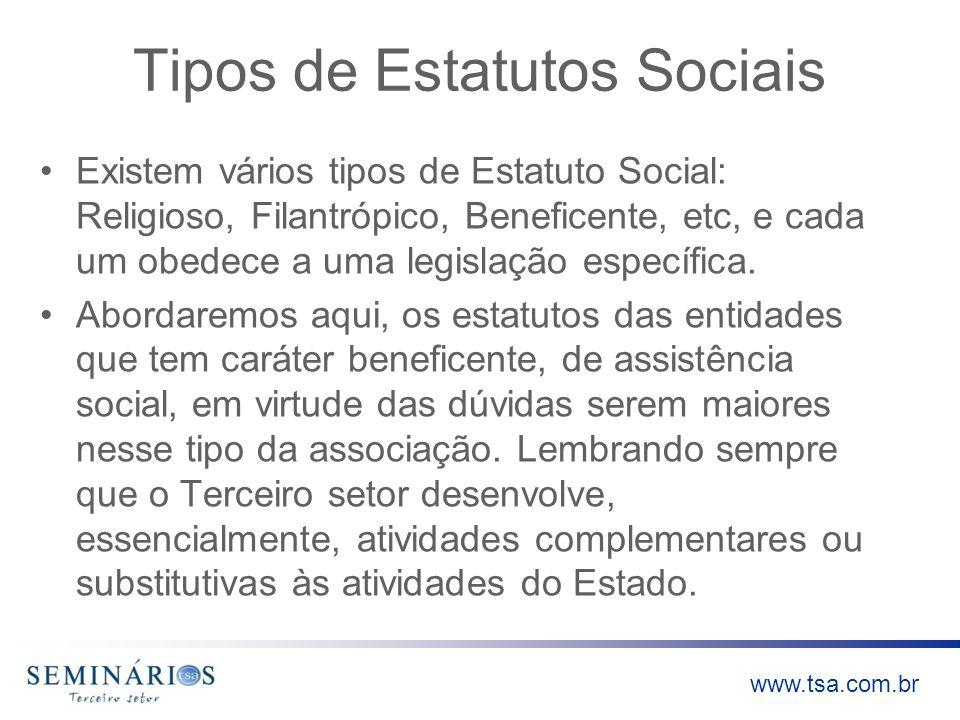 Tipos de Estatutos Sociais